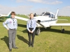 after arriving at the Sywell