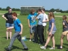 It\'s the famous golf-ball and spoon race
